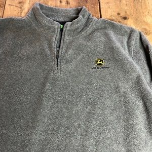 John Deere Pullover 1/4 Zip Fleece Jacket